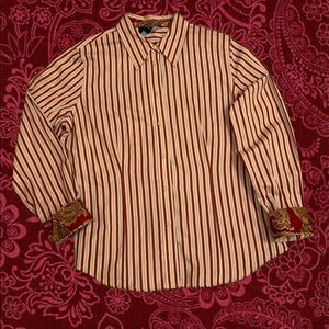 Jones New York Classic Button Down Shirt  S: PL